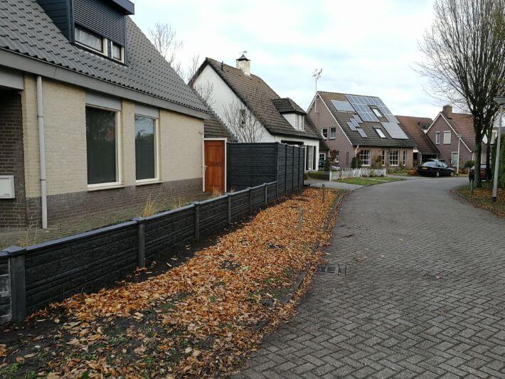 Betonschutting in Lierop